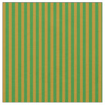 [ Thumbnail: Dark Goldenrod and Forest Green Stripes Fabric ]