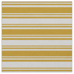 [ Thumbnail: Dark Goldenrod and Light Grey Colored Pattern Fabric ]