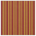 [ Thumbnail: Dark Goldenrod and Maroon Stripes/Lines Pattern Fabric ]