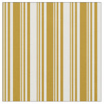 [ Thumbnail: Dark Goldenrod and Mint Cream Lines Pattern Fabric ]