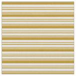 [ Thumbnail: Dark Goldenrod and Mint Cream Stripes Pattern Fabric ]