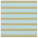[ Thumbnail: Dark Goldenrod and Powder Blue Colored Lines Fabric ]