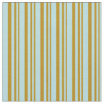 [ Thumbnail: Dark Goldenrod and Powder Blue Pattern Fabric ]