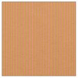 [ Thumbnail: Dark Goldenrod and Salmon Striped Pattern Fabric ]