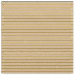 [ Thumbnail: Dark Goldenrod and Tan Stripes Fabric ]