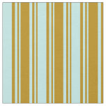 [ Thumbnail: Dark Goldenrod and Turquoise Colored Pattern Fabric ]