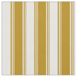 [ Thumbnail: Dark Goldenrod and White Colored Stripes Pattern Fabric ]