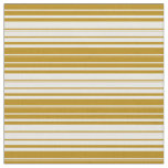 [ Thumbnail: Dark Goldenrod and White Lines Fabric ]