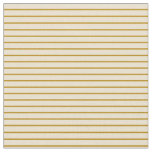 [ Thumbnail: Dark Goldenrod & Beige Colored Lined Pattern Fabric ]