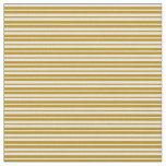 [ Thumbnail: Dark Goldenrod & Beige Colored Lines Pattern Fabric ]