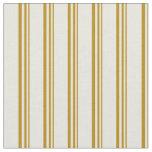 [ Thumbnail: Dark Goldenrod & Beige Pattern Fabric ]