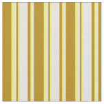 [ Thumbnail: Dark Goldenrod, Beige & Yellow Colored Pattern Fabric ]