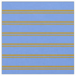 [ Thumbnail: Dark Goldenrod & Cornflower Blue Colored Stripes Fabric ]