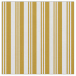 [ Thumbnail: Dark Goldenrod & Lavender Pattern Fabric ]
