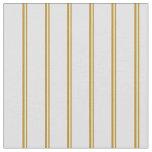 [ Thumbnail: Dark Goldenrod & Lavender Pattern of Stripes Fabric ]