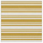 [ Thumbnail: Dark Goldenrod & Light Yellow Colored Pattern Fabric ]
