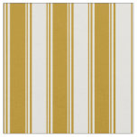 [ Thumbnail: Dark Goldenrod & Light Yellow Colored Stripes Fabric ]