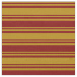[ Thumbnail: Dark Goldenrod & Maroon Colored Pattern Fabric ]