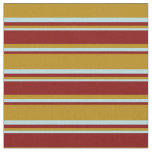 [ Thumbnail: Dark Goldenrod, Maroon & Powder Blue Pattern Fabric ]