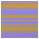 [ Thumbnail: Dark Goldenrod & Medium Slate Blue Colored Lines Fabric ]