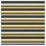[ Thumbnail: Dark Goldenrod, Pale Goldenrod & Black Colored Fabric ]