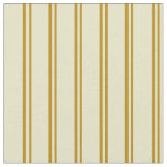 [ Thumbnail: Dark Goldenrod & Pale Goldenrod Striped Pattern Fabric ]