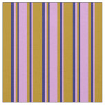 [ Thumbnail: Dark Goldenrod, Plum, and Midnight Blue Colored Fabric ]