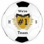 Dark Goldenrod Sign #1 Team Soccer Ball