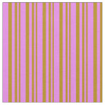 [ Thumbnail: Dark Goldenrod & Violet Colored Pattern Fabric ]