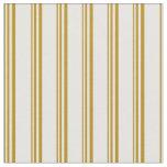 [ Thumbnail: Dark Goldenrod & White Pattern Fabric ]