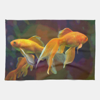 Dark Goldfish Towel
