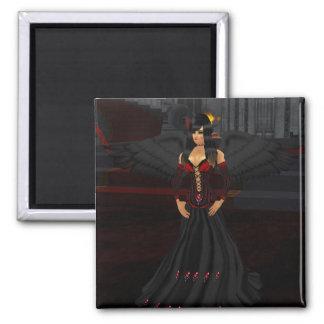 Dark Goth Angel Magnet