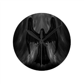dark gothic angel clock