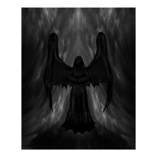 dark gothic angel poster