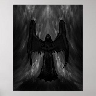 dark gothic angel poster