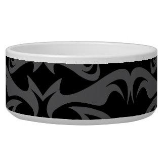 Dark Gothic Damask Pattern Bowl