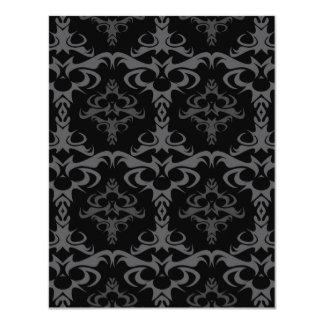 Dark Gothic Damask Pattern Card