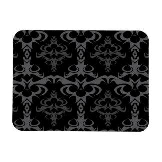 Dark Gothic Damask Pattern Magnet