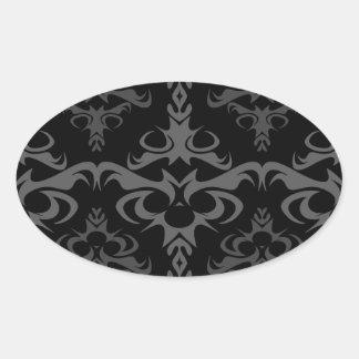 Dark Gothic Damask Pattern Stickers