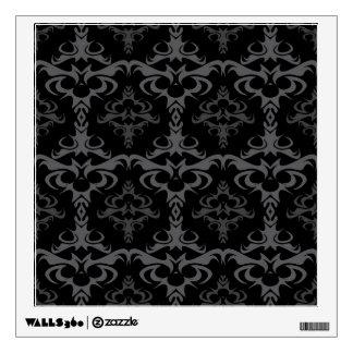 Dark Gothic Damask Pattern Wall Sticker