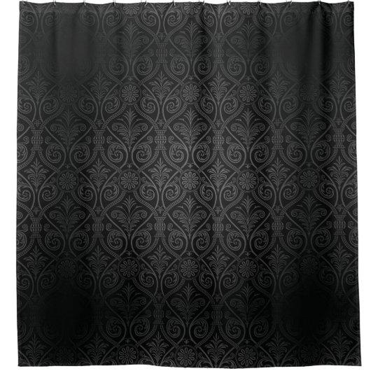 Etonnant Dark Gothic Damask Shower Curtain