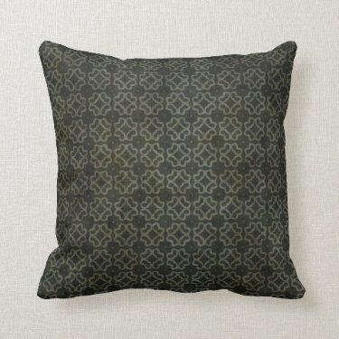 Dark Gothic Flower Pattern Pillows