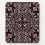 Dark gothic red and gray kaleidoscope mousepad