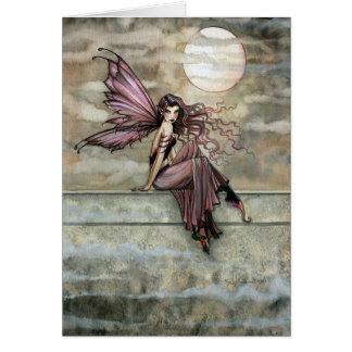 Dark Gothic Romantic Fairy Card ~ Blank