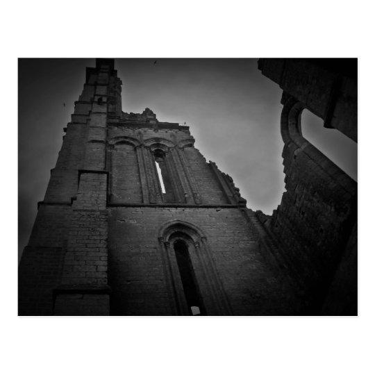 Dark gothic ruins souvenir postcard
