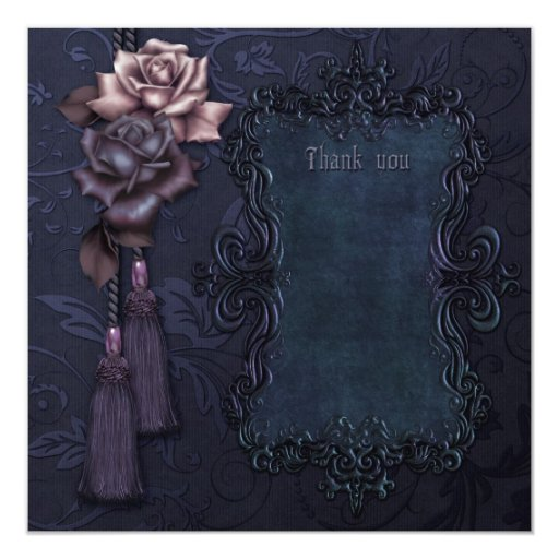 Dark Gothic Thank you card Personalized Announcements