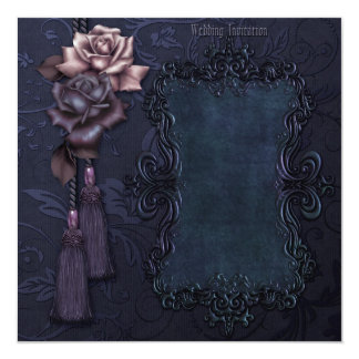 Dark Gothic Wedding Invitation