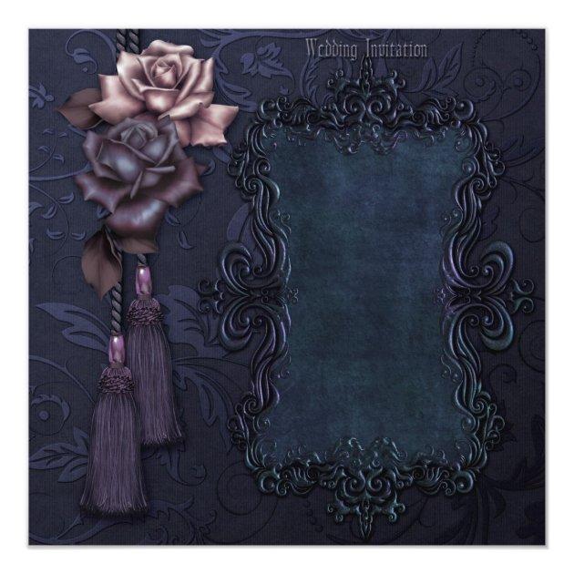 dark gothic wedding invitation