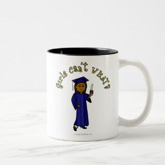 Dark Graduate in Blue Two-Tone Coffee Mug