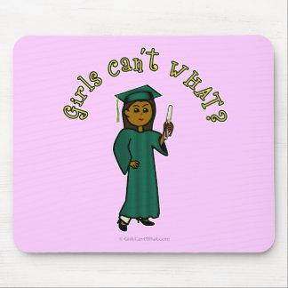 Dark Graduate in Green Mouse Pad